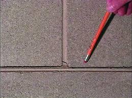 a concrete block foundation wall