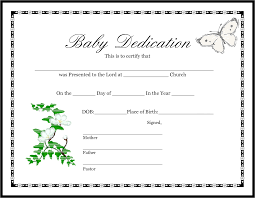 Baby Dedication Certificates Templates Birth Certificate Template Mughals 9