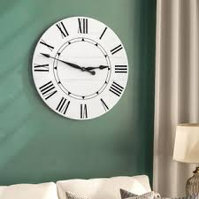 office large size floor clocks wayfair. Oversized Tracee Farmhouse Wall Clock Office Large Size Floor Clocks Wayfair