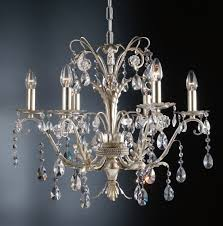 6 arms wrought iron silver blossom crystal chandelier return to previous page lightbox