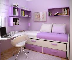 Interior:Stunning Small Purple Bedroom Interior Design Ideas With Cream  Bedding Sets Also Purple Painted