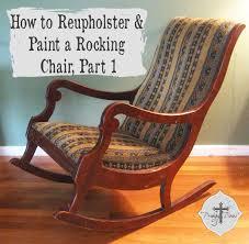 reupholster a rocking chair part 1 via Prodigal Pieces