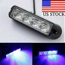 car strobe light 4 led car truck emergency beacon light bar hazard strobe warning yellow white