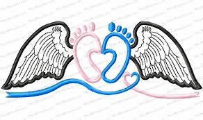 Angel Wings Applique Design Pin On Embroidery Machine