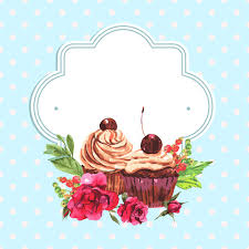Watercolor Cupcakes With Vintage Card Vector Free Vector In