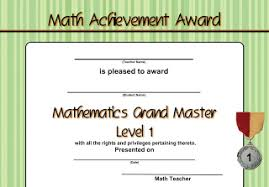 Create Your Own Math Certificates Excel Math Blog