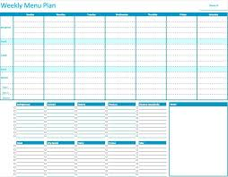 Free Weekly Meal Planner With Grocery List Printable Menu Planner Template Free Weekly Meal Monthly Ooojo Co
