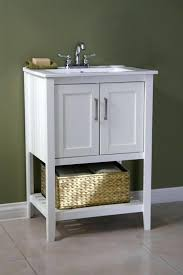 Decoration Inch Vanity Combo Bathroom Classic White Finish With Basket  Cabinets Top Sink Endearing 24 In Vanity Combo B62