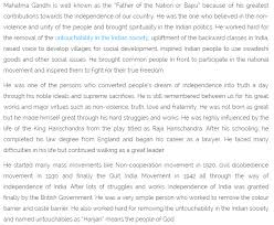 mahatma gandhi jayanthi essay biography in english hindi telugu gandhi essay 2
