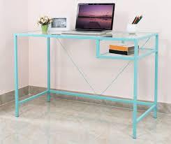just home aqua metal glass desk big