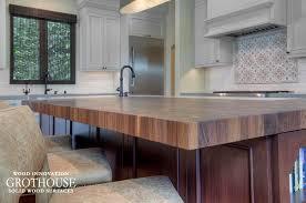 custom walnut wood butcher block made in usa for a kitchen island design in los gatos