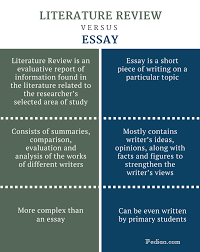 difference between literature review and essay infographic png essay on fast food pros and cons