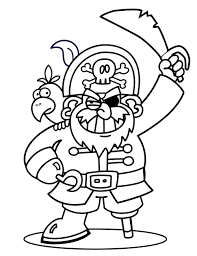 Kleurplaat Piraten Thema Piraten Woeste Willem Piraten
