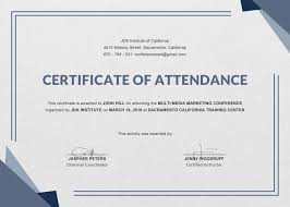 Fresh Certificate Of Attendance Template Best Sample Excellent