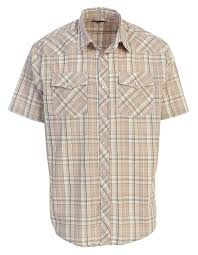 Gioberti Mens Short Sleeve Plaid Western Shirt W Pearl Snap On Buttons