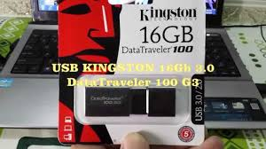 USB KINGSTON DATATRAVELER 100 G3 16GB 3.0 - Thẻ Nhớ Minh Hằng .com - YouTube