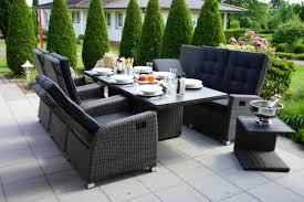 Ploß Rocking Comfort Set Graubraun Tisch 220x100 Cm 6 Pers