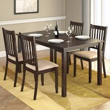 Amazoncom  CorLiving DRG795Z Atwood 5Piece Dining Set with Beige  Microfiber Seats  Table u0026 Chair Sets