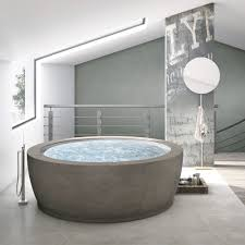 Free-standing bathtub / round / composite / double - BOLLA INFINITY by  Franco Bertoli & Davide Danielli