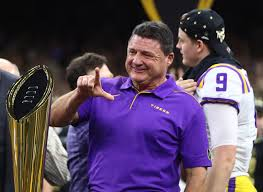 LSU coach Orgeron on the way to becoming state cult hero after win