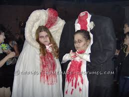 10 unique homemade scary costume ideas thrift headless bride and groom couple costume homemade