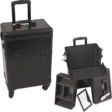 e6301 sunrise black croc professional rolling case with hollow e