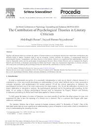 Pdf The Contribution Of Psychological Theories In Literary Criticism
