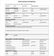 Sample Rental Application Form Cnbam