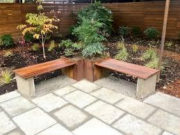steel planter hardwood bench