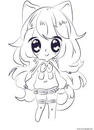 Kawaii Anime Girl Coloring Pages Printable