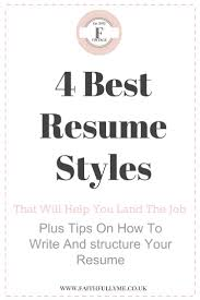 Resume Styles 100 Resume Styles That Always Land The Job Plus Tips To Learn When 6