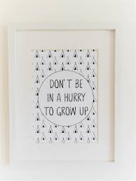 Kids Quote Print Nursery Decor Growing Up Quote Monochrome Decor First Birthday Gift Teepee Print Baby Gift Idea Teenager Gift