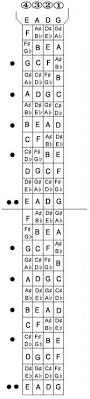 Basic 4 String Bass Chord Chart