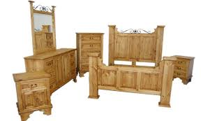 Rustic wood with metal accent Texas Star bedroom set