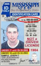 Card Mississippi License Information Driver's And Id