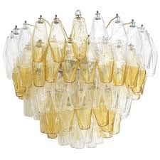 carlo scarpa five layer polyhedral chandelier for