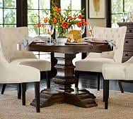 banks extending pedestal dining table alfresco brown