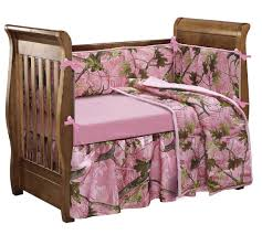 accents oak pink camo crib set girls crib bedding set 4 pieces by hiend