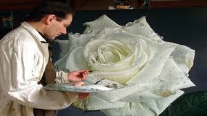 large paintings of flowers large flower paintings of dewdrop covered roses
