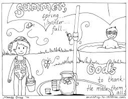 Small Picture Printable Summer Activities Coloring Coloring Pages
