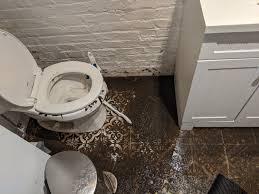 sewage overflows in homes in edgewood