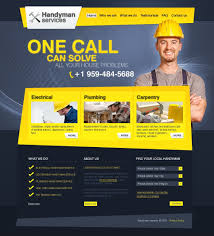 website advertisement template home repairs psd template 27828