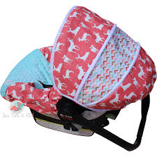 infant car seat cover c deer with tribal print by sewcuteinaz