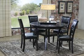 gia dark brown round table with 4 chairs