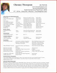 Actors Resume Template Unique Actor Examples Commercial