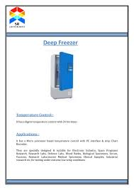 Deep Freezer By Srlabinstruments Issuu