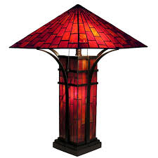 mission tiffany stained glass table lamp view images