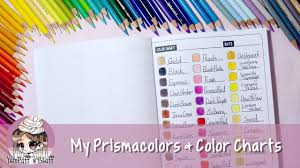Filling In Color Charts With Prismacolor Pencils