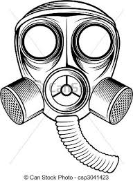 gas can drawing. vector - gas mask can drawing h