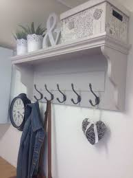 Coat Rack Hallway Grey Hallway Coat Rack With Shelf And Cast Iron Or Silver Hooks 37